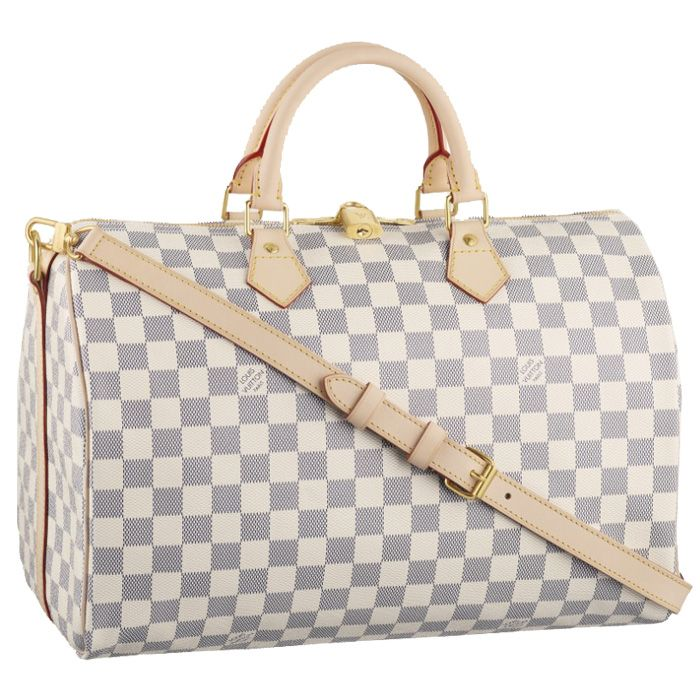Louis Vuitton Speedy Bandouliere 35 Damier Azur Canvas