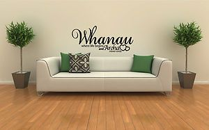 Want this on my wall. Whanau where life begins and Aroha never ends
