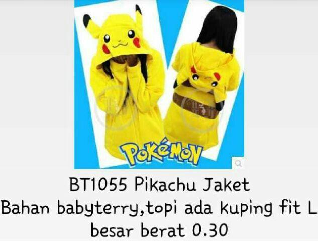 #jaket #pokemon #pikachu @ 90.000