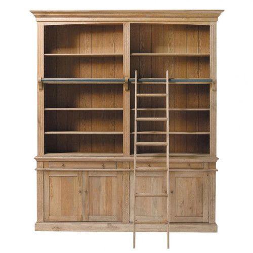 Solid Oak Bookcase W 200cm