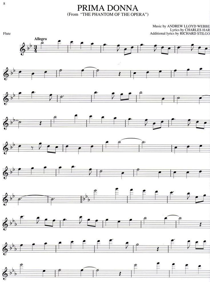 Free online flute sheet music - The Phantom of the Opera