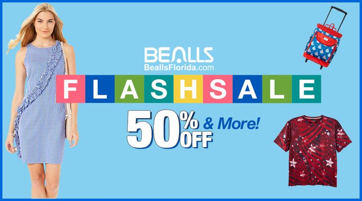 Online Only! Flash Sale! Take 50% #off & more.  Store: #BeallsFlorida Scope: Entire Store Ends On : 04/13/2018  Get more deals: http://www.geoqpons.com/Bealls-Florida-coupon-codes  Get our Android mobile App: https://play.google.com/store/apps/details?id=com.mm.views  Get our iOS mobile App: https://itunes.apple.com/us/app/geoqpons-local-coupons-discounts/id397729759?mt=8