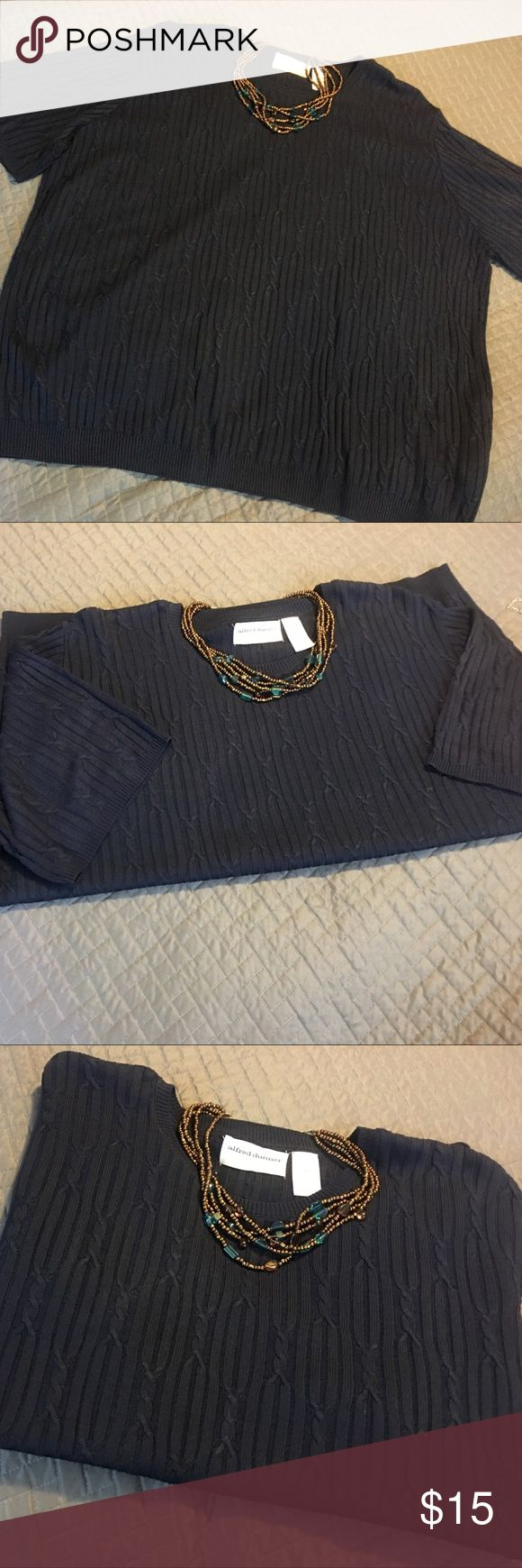 Lightweight Classic  Alfred Dunner sweater Lightweight Classic  Alfred Dunner sweater. Size 2x 100% Acrylic. This beauty goes with everything. The look can go from chic to classic by just a necklace change. A must for any closet❤ Alfred Dunner Tops
