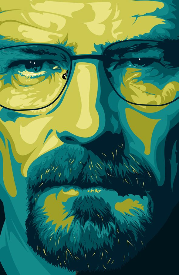 #ilustración Walter White #breaking #bad totalmente captada su mirada