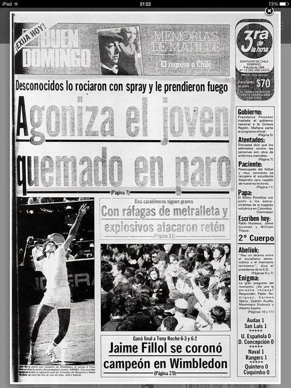 La Tercera, newspaper that placed false information during Pinochet's dictatorship. An example: Rodrigo Rojas Denegri Murder by State agents.