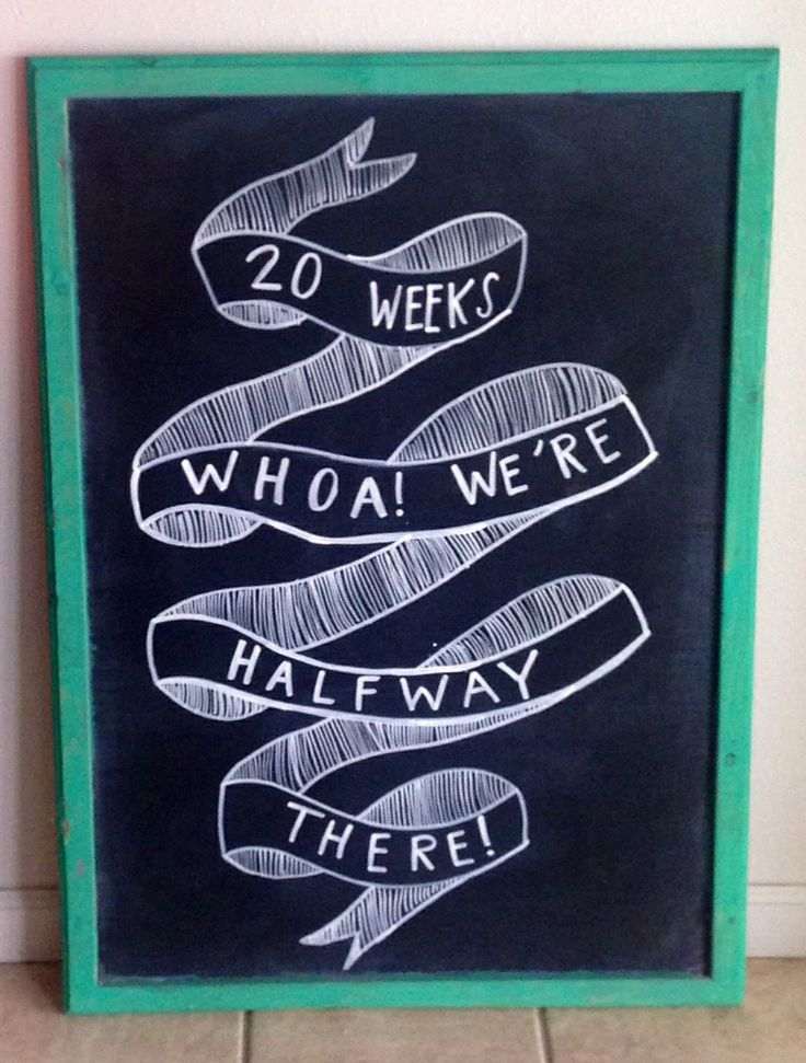 20 weeks pregnancy chalkboard