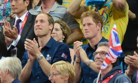 """I love the caption on this pic at the original website: """"Some random crowd members."""" Cheerio for British humor!"""