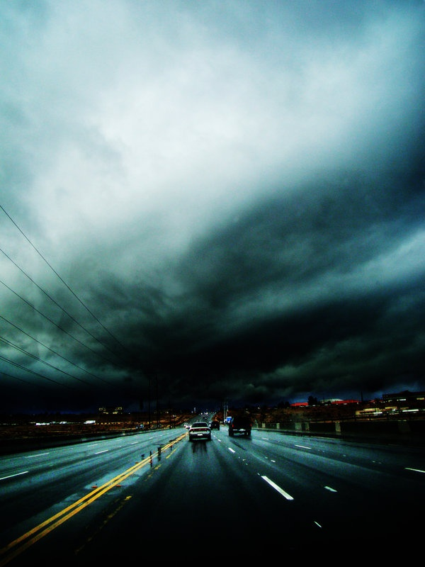 I love the weather in California, it's crazy and unpredictable. (: