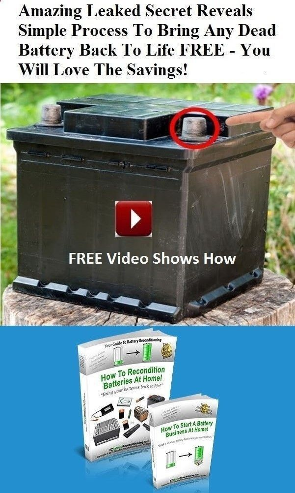 Battery Reconditioning Epsom Salt How To Recondition Batteries At Home Pdf Battery Recondit Recondition Batteries Dead Battery Battery Hacks