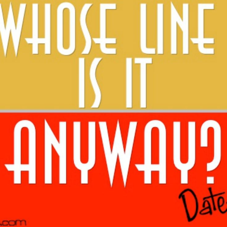 """Hilarious improvisation games you can play right from home! Based on the popular TV show """"Whose Line is it Anyway?"""""""