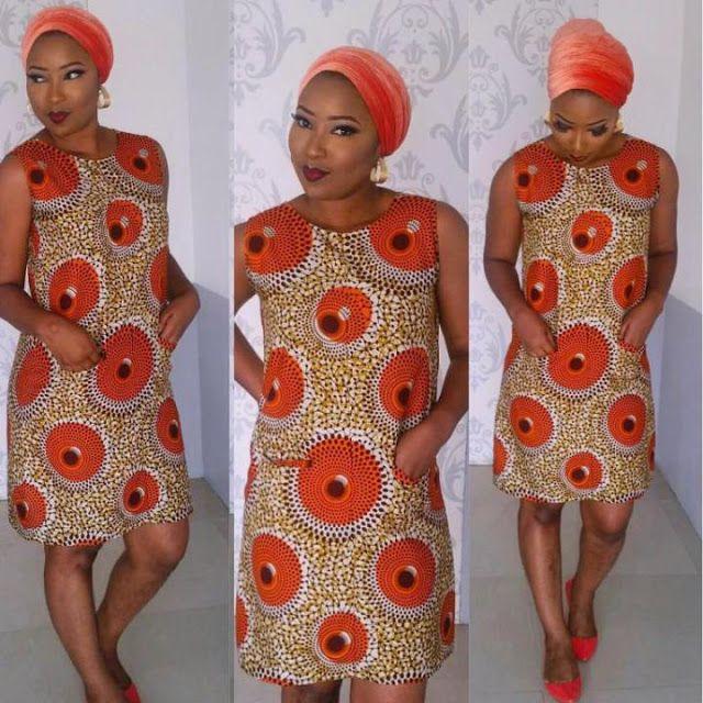Simple Ankara Short Gown Design African Fashions I Ankara