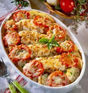 Lajos Mari konyhája - Sajtos-paradicsomos rakott csirkemell