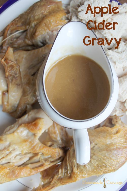 Apple Cider Gravy | Recipe | Turkey gravy, Turkey meatball soup and ...