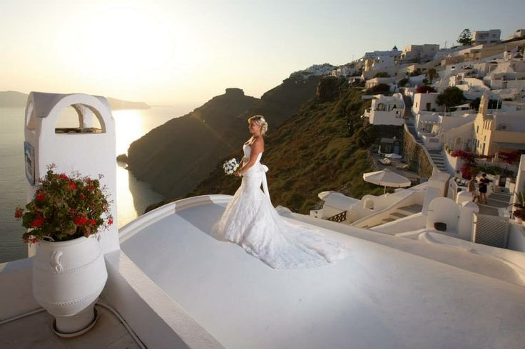 Dana villas santorini wedding bride