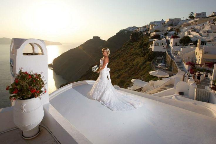 Dana villas santorini wedding bride