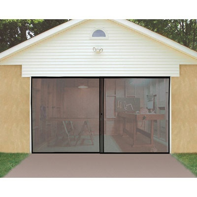 Single Garage Door Screen Keeps the Bugs Out of Your Garage. $20 for single, $30 for dbl