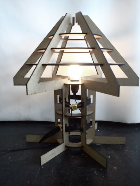 Laser cut archetypal table lamp