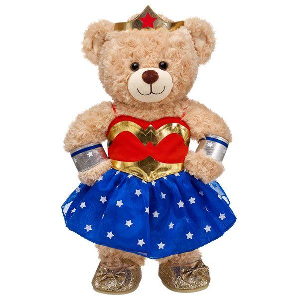 happy hugs teddy in wonder woman costume build a bear workshop us gotta get this costume. Black Bedroom Furniture Sets. Home Design Ideas