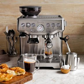 Trend Breville Barista Express Espresso Maker Model BESXL Built in hopper setting grinder for the ultimate crema included filters kangaroo