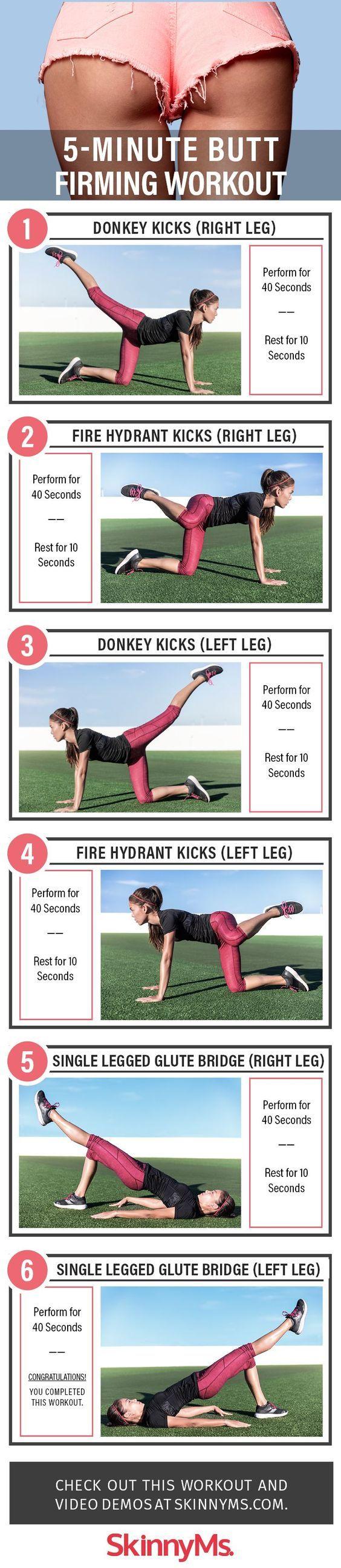 5-Minute Butt Firming Workout.