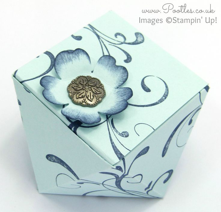 Stampin' Up! UK Demonstrator Pootles - Faceted Gift Box Tutorial using Everything Eleanor Oooo, don't you just love a box that looks reeeeeaaaallllly compl