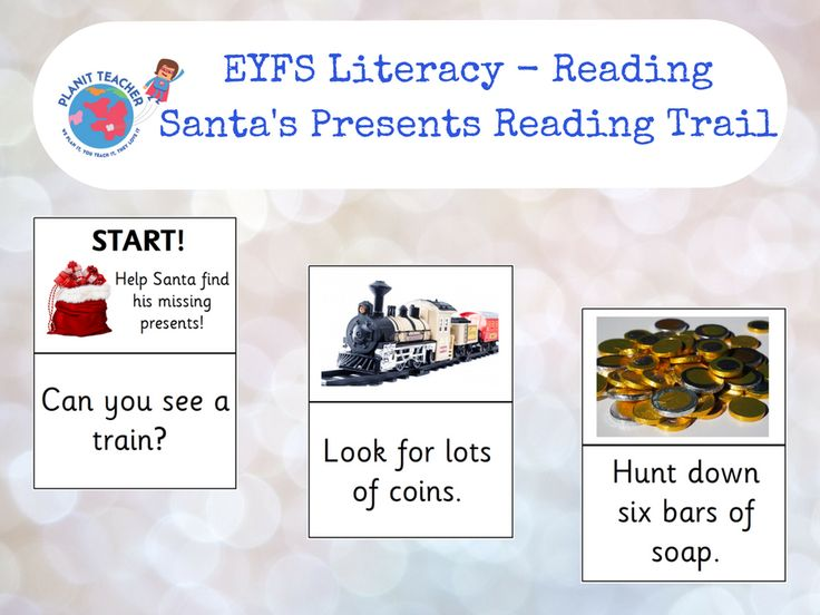 Follow the clues to help Santa track down all of the presents that he has lost. A fun way for the children to apply their phonic knowledge over the festive period. <br /> <br /> There are 6 clues in total, suitable for a child working on Phase 3 in Lett...