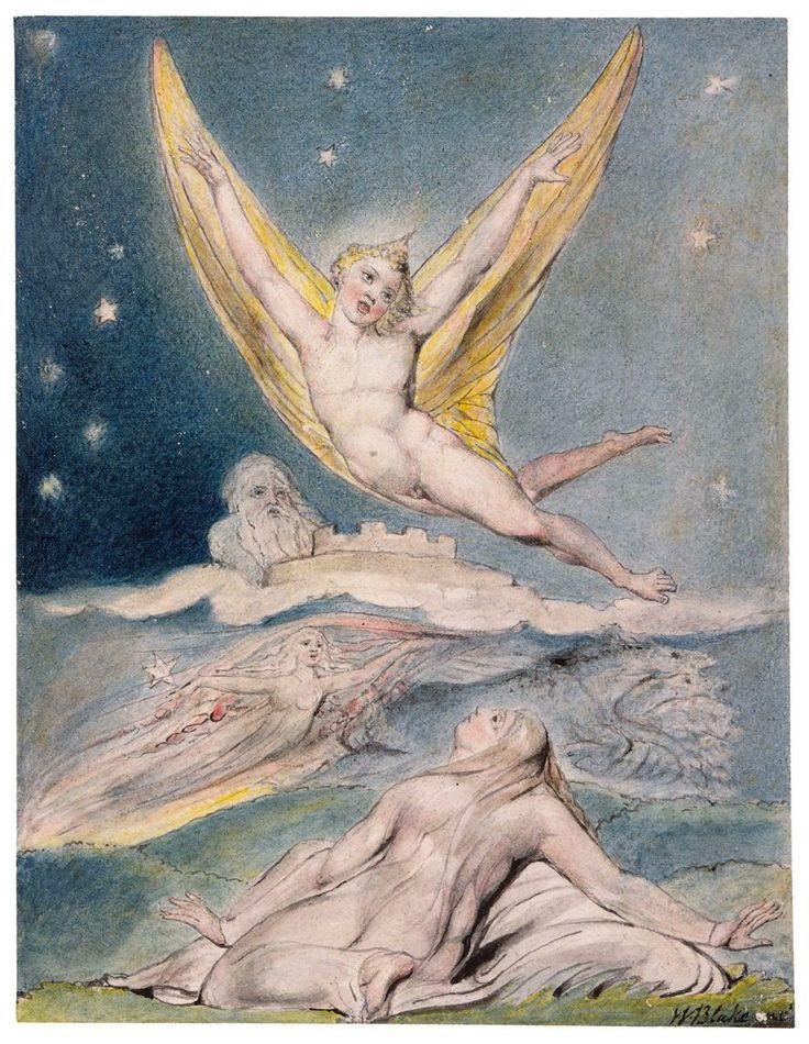 Night Startled by the Lark - William Blake-Çocuksu Keder   Annem sızlandı! Babam ağladı.  Tehlikeli bir dünyaya atıldım:  Çaresiz, çıplak, kulakları sağır eden cırtlak sesimle  Bir şeytan gibi, arkasına saklanmış bir bulutun.   Çırpınırken babamın ellerinde  Kundak bezinden kurtulmaya çabalarken  Bağlı ve yorgun, düşünebildiğim en iyi şey  Küsmek annemin memesine.    Çev. Halil ÇELİK   William Blake