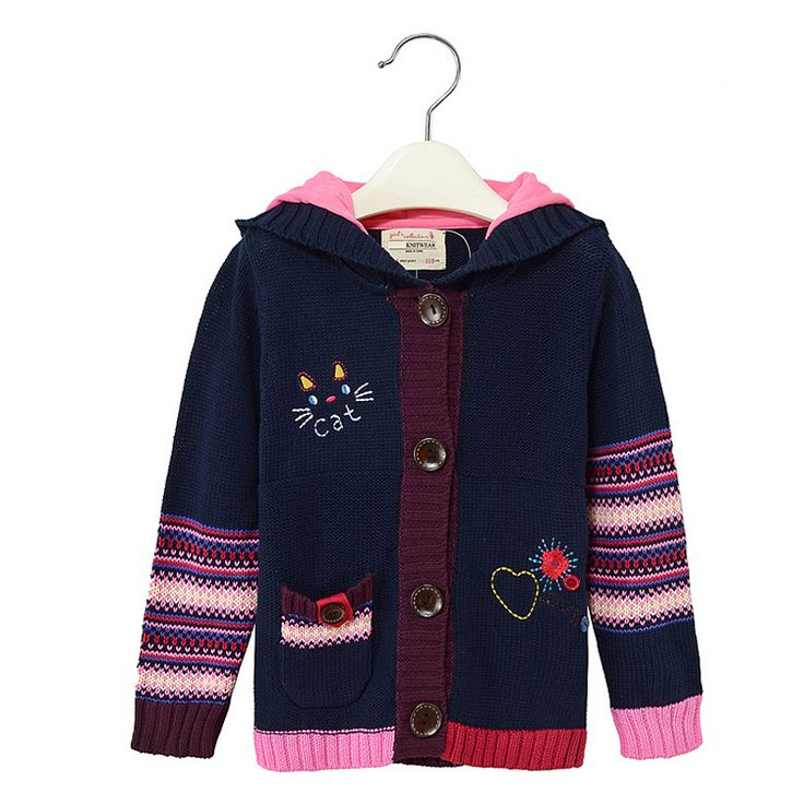 >> Click to Buy << Hot Wholesale Free shipping Fashion Autumn/Winter Long Sleeve Girls Sweater Cardigan Childrens Sweater Thermal 2-7years #Affiliate