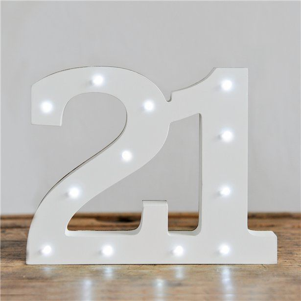 Wooden Light Up 21 21st Birthday Decorations Each 21stbirthdaysigns Wooden Light Up 2 In 2020 21st Birthday Decorations 21st Birthday 21st Birthday Party Supplies