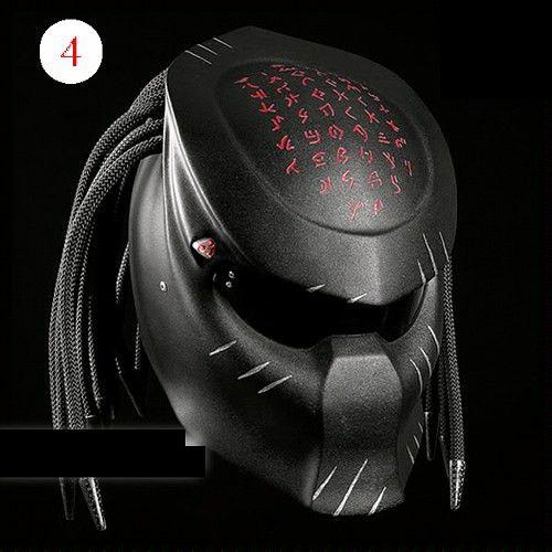 Alien Predator Helmet  Street Fighter DOT Approved- Black | adi075777 -  on ArtFire