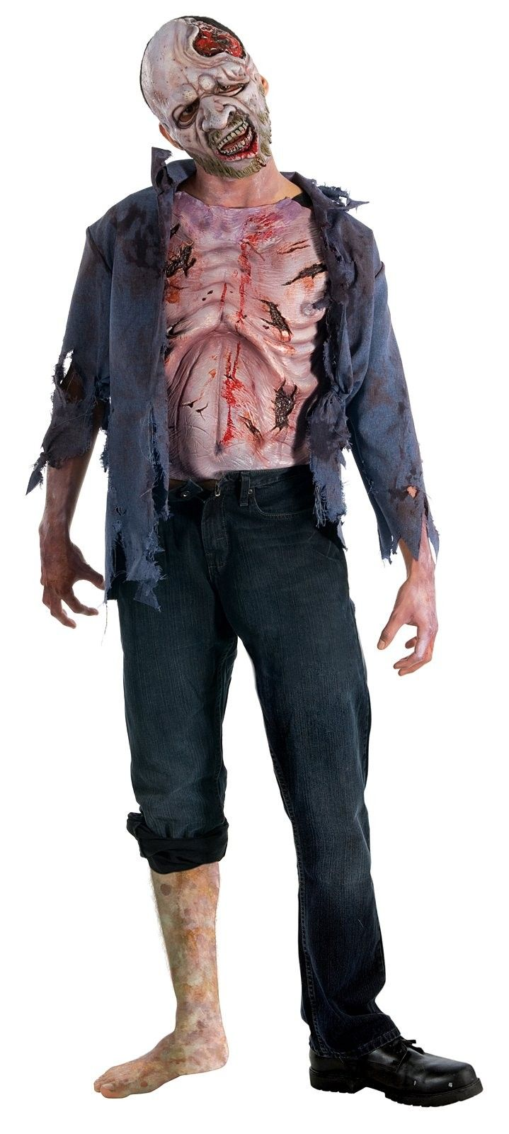 The Walking Dead - Decomposed Deluxe Teen Costume - Includes: Shirt with molded chest, mask.  This is an officially licensed The Walking Dead costume. Teen.
