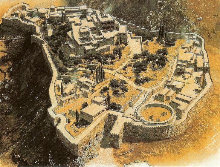 Reconstrucción de Micenas   Civilización micénica (1.500-1.000 a.C.)