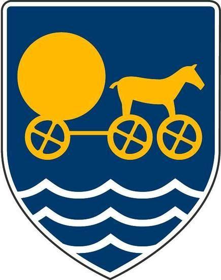Odsherred Kommune bruger Solvognen i sit byskjold.