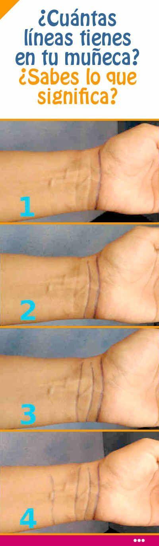 ¿Cuántas líneas tienes en tu muñeca? ¿Sabes lo que significa?