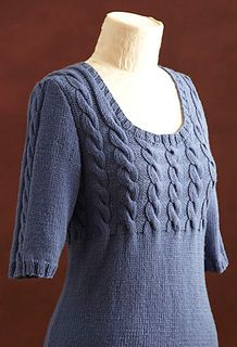 Shaped Cable Top by Lion Brand Yarn.