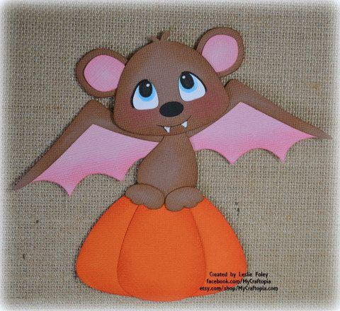Bat Halloween premade scrapbooking embellishment by MyCraftopia
