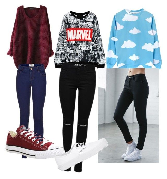 Outfits by lollypopmy on Polyvore featuring polyvore, fashion, style, Bullhead Denim Co., Converse and Vans