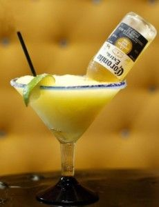 Frozen Corona Margarita  recipe here: http://www.howlatthemoon.com/dueling_piano_bar/margarita-recipes-to-drool-over/