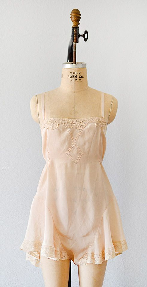 vintage 1930s SALONNIÈRE silk teddy from Adored Vintage #1930s #30slingerie