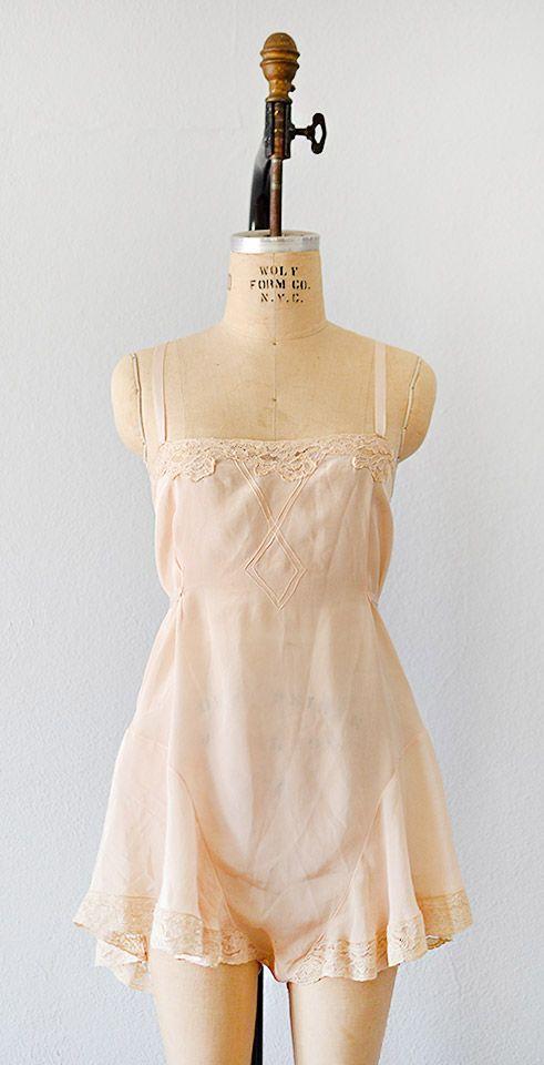 vintage 1930s SALONNIÈRE silk teddy from Adored Vintage #1930s #30slingerie