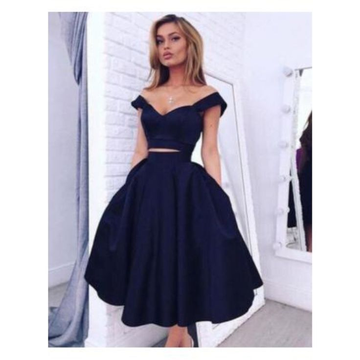 Layered Homecoming Dresses Sexy V neck Two Pieces Cap Sleeve Semi Formal Graduat…