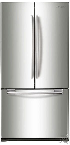 Samsung RF18HFENB 17.5 cu. ft. Counter-Depth French Door Refrigerator with Tempered Glass Shelves, 2 Gallon Door Bins, Dairy Corner, LED Lighting, Freezer Bin with Divider and Automatic Filtered Ice Maker
