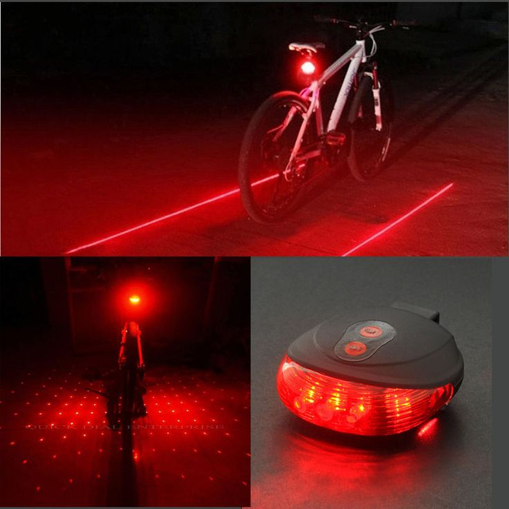 Details About Cycling Red Blue 5 Led 2 Laser Line Dot