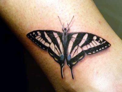 Beautiful Tiger-Swallowtail Tattoo. | Tattoos | Pinterest