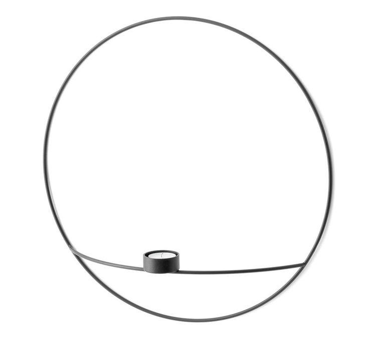 Pov Circle Te-Lysestake L Black