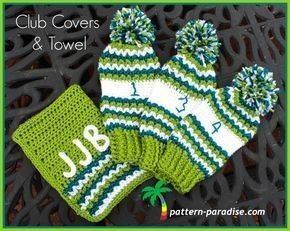 FREE Crochet Pattern - Golf Club Covers and Towel