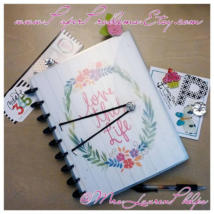 YES!!! Repurpose a clear, polyvinyl accordion folder (? or single folder) into a durable rigid cover for the Happy Planner! GO GO GO!!! Or purchase on PaperProblems Etsy shop.
