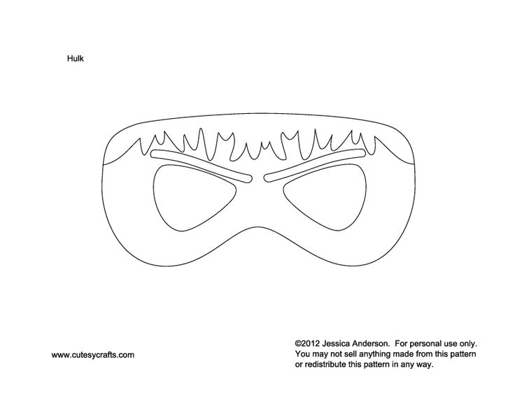 Hulk Mask To Kids Patterns Moldes Pinterest Hulk