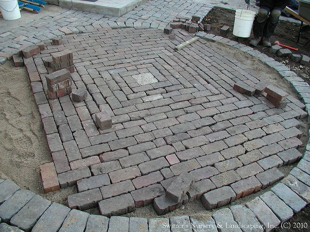Awesome Salvaged Granite Cobble U0026 Clay Paver Patio By Switzeru0027s Nursery U0026  Landscaping A Square ...