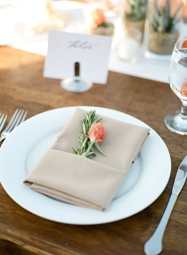49 best Wedding Napkins with flowers images on Pinterest